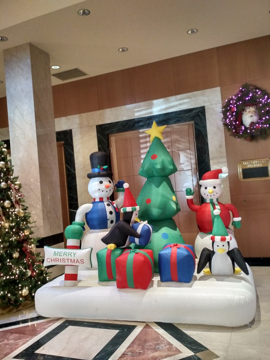 Χριστουγεννιάτικη φουσκωτή παράσταση