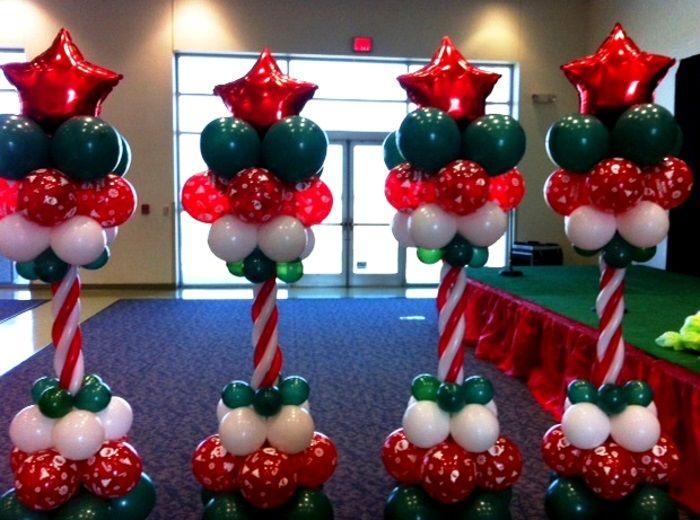 Χριστουγεννιάτικη σύνθεση με μπαλόνια ΣΤΗΛΗ ΑΣΤΕΡΑΚΙ