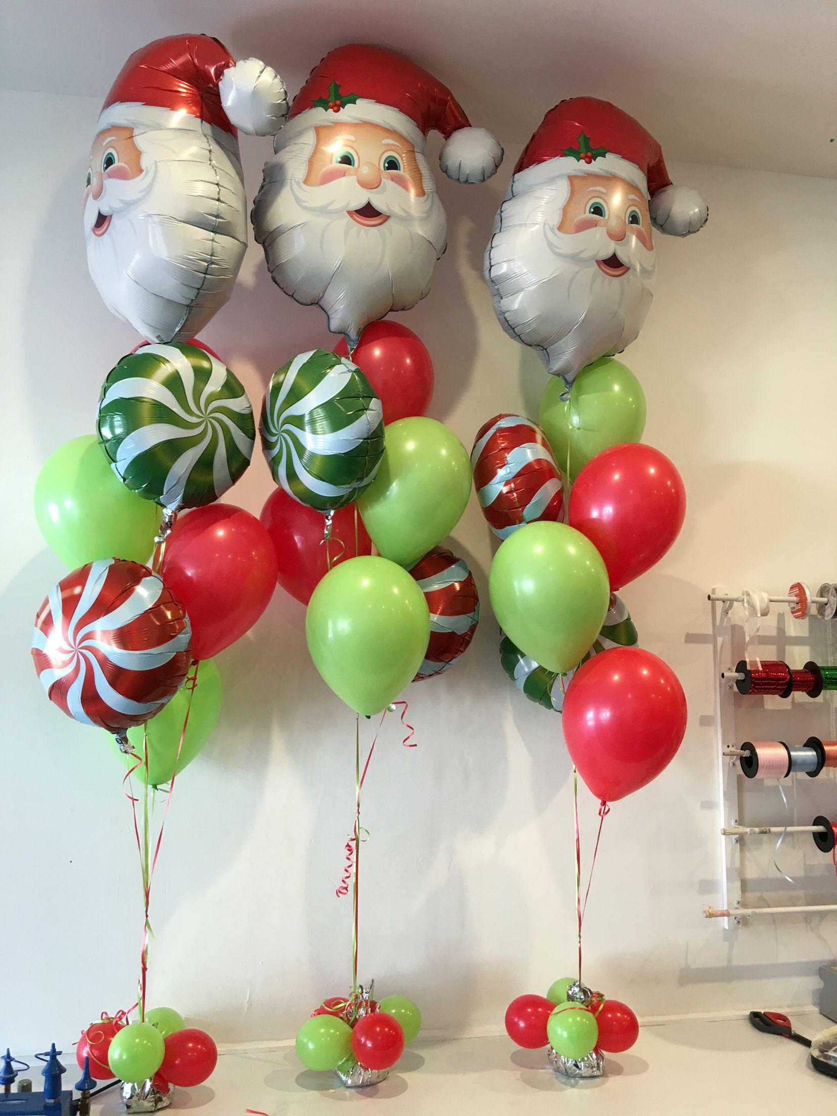 Χριστουγεννιάτικη σύνθεση με μπαλόνια ΑΓΙΟΣ ΒΑΣΙΛΗΣ