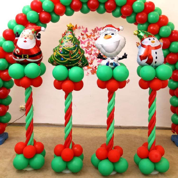 Χριστουγεννιάτικη σύνθεση με μπαλόνια ΠΑΡΕΛΑΣΗ ΜΠΑΛΟΝΙΩΝ