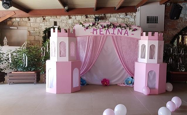 Διακοσμητική αψίδα με backdrop pink