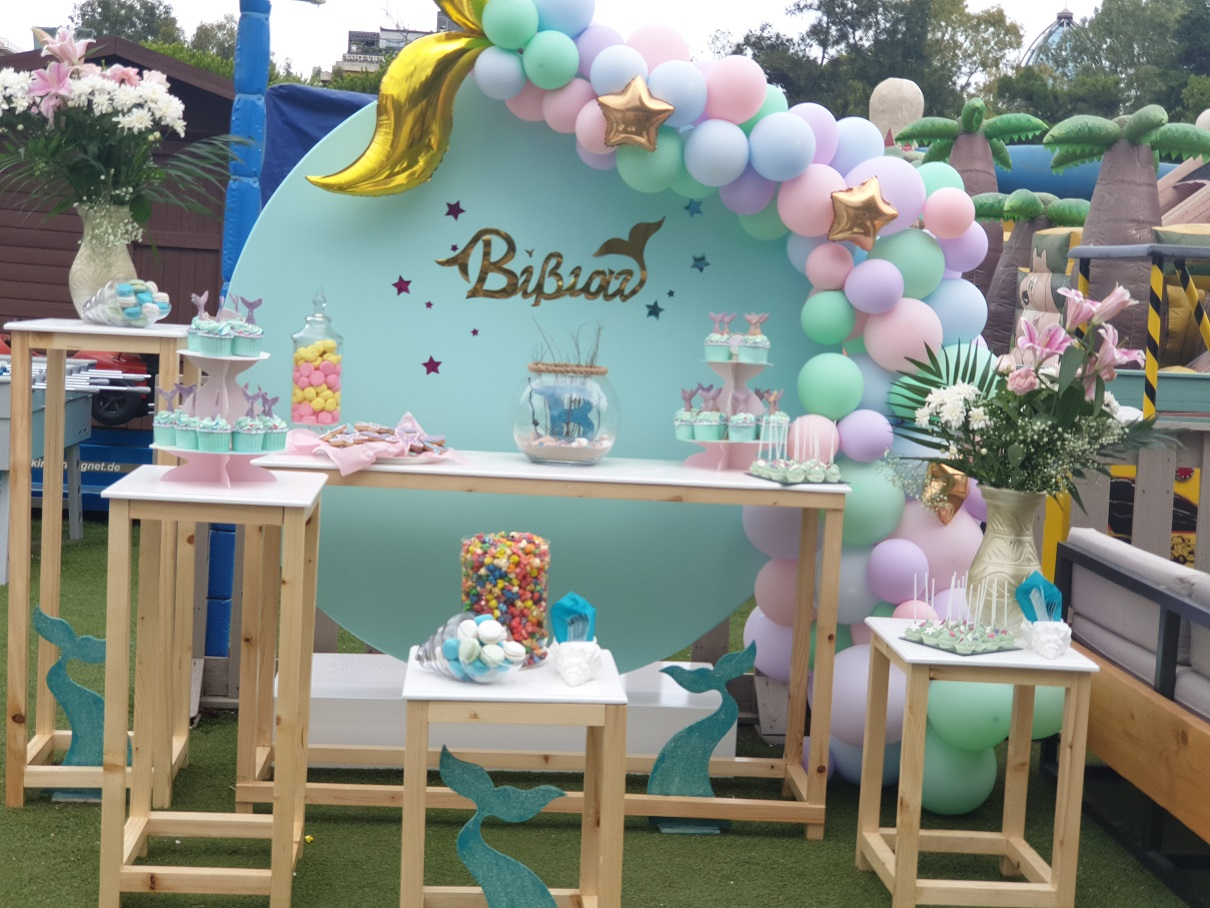 Διακόσμηση CANDY BAR με μπαλόνια : ΟΥΡΑ ΓΟΡΓΟΝΑΣ