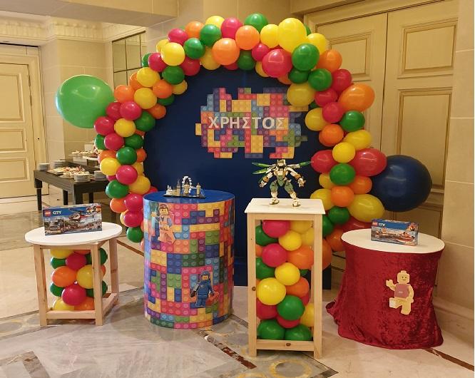 Διακόσμηση CANDY BAR με μπαλόνια : LEGO