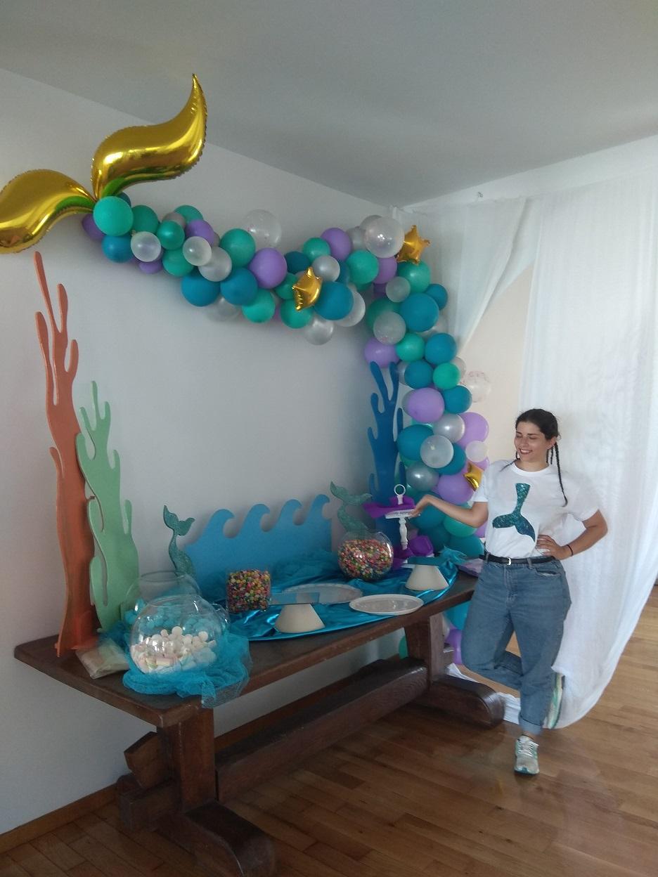 Διακόσμηση CANDY BAR με μπαλόνια : ΒΥΘΟΣ