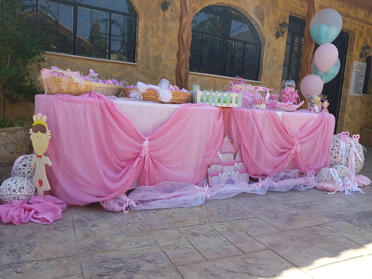 Candy Bar στην εκκλησία ή στο πάρτυ PINK PRINCESS