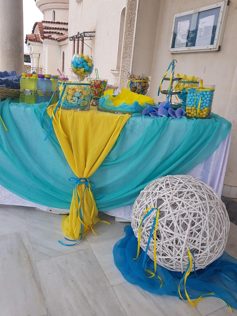 Candy Bar στην εκκλησία ή στο πάρτυ BLUE LAGOON