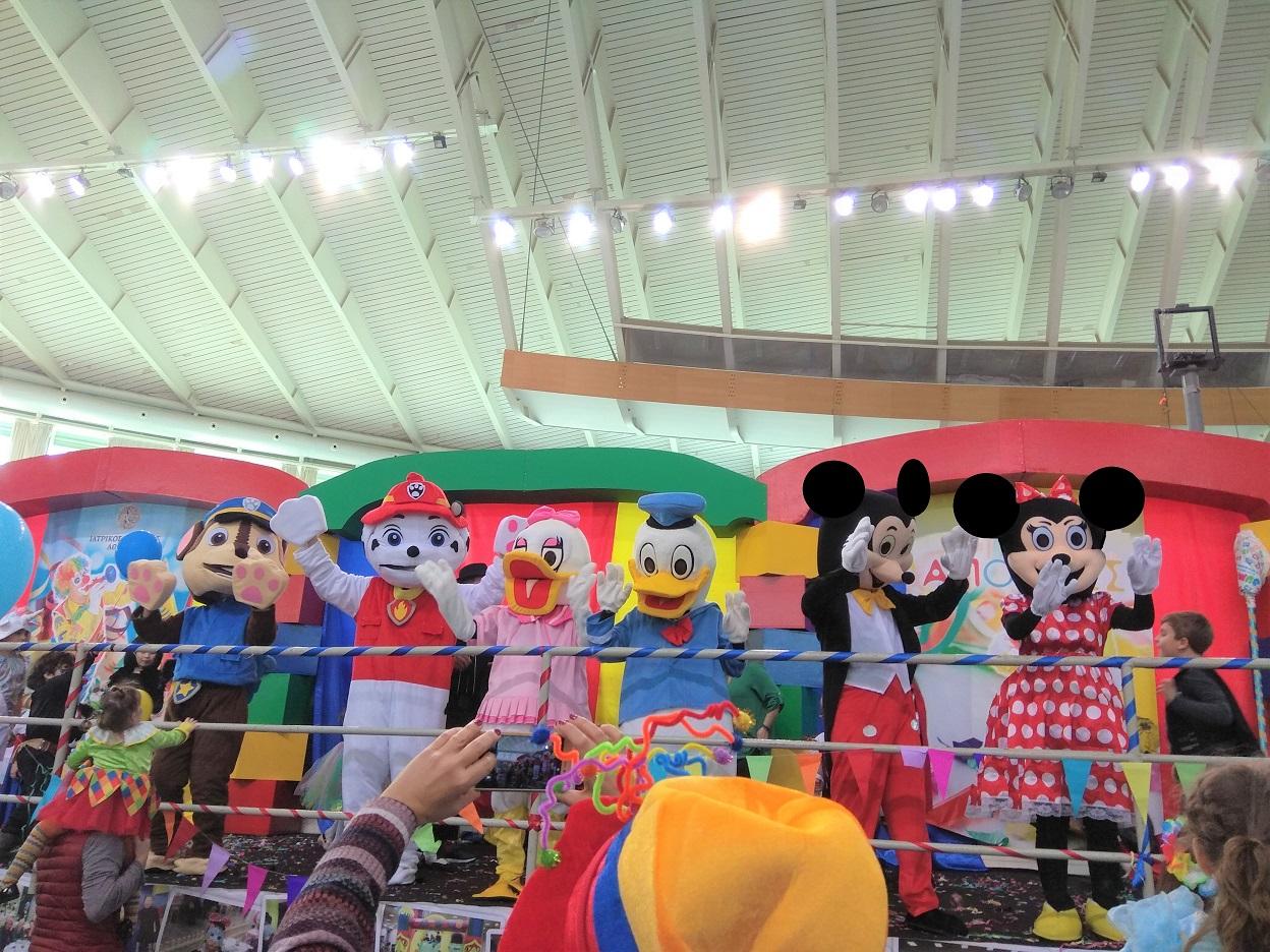 Παρέλαση μασκότ για βάπτιση, παιδικό πάρτυ, εκδηλώσεις