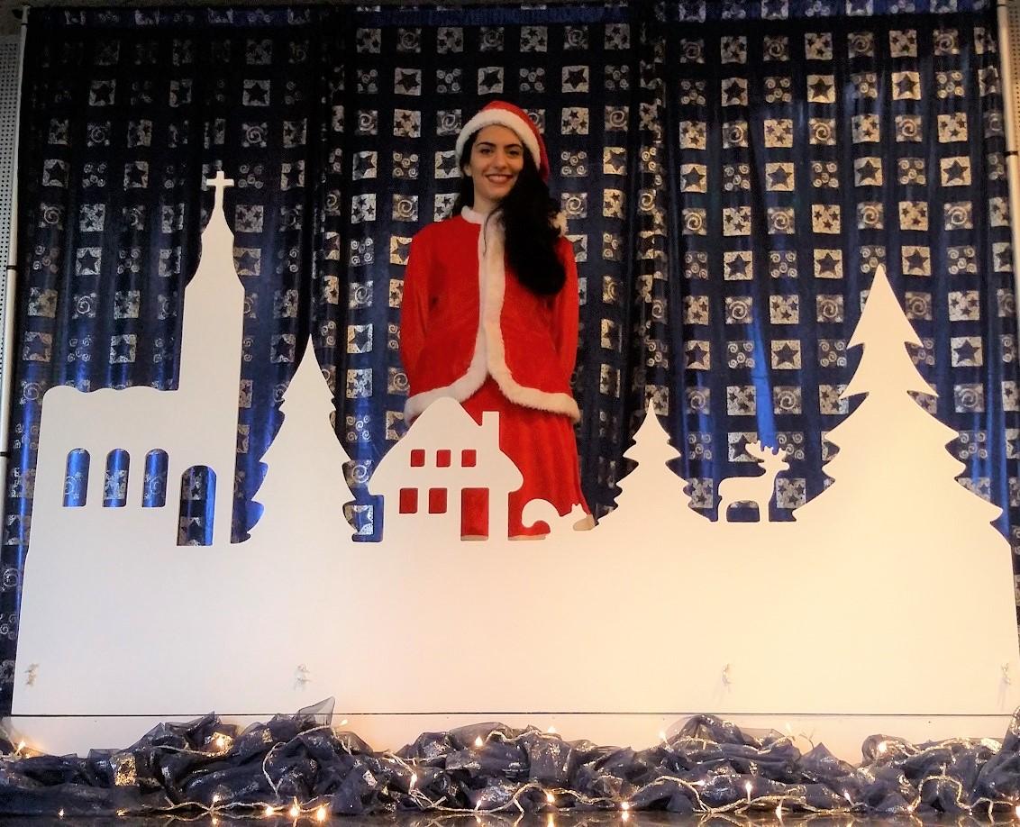 Χριστουγεννιάτικο χωριό backdrop