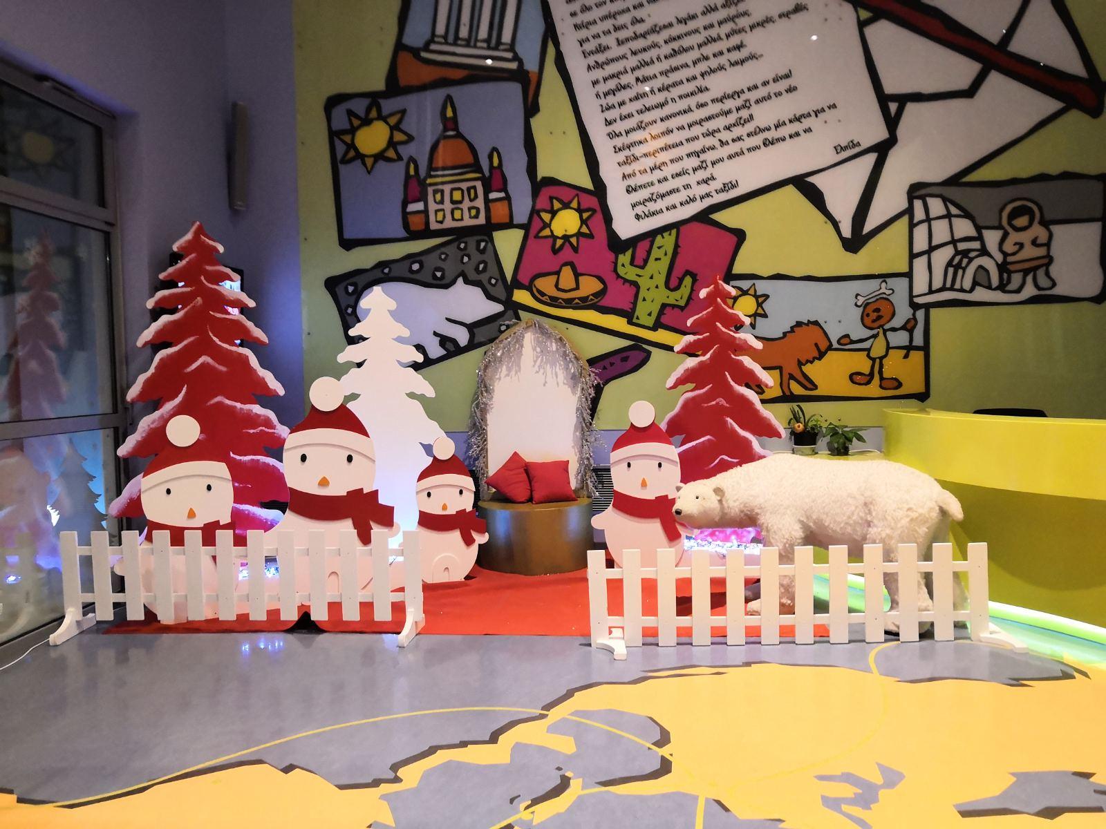 Χριστουγεννιάτικη σύνθεση με πιγκουίνους