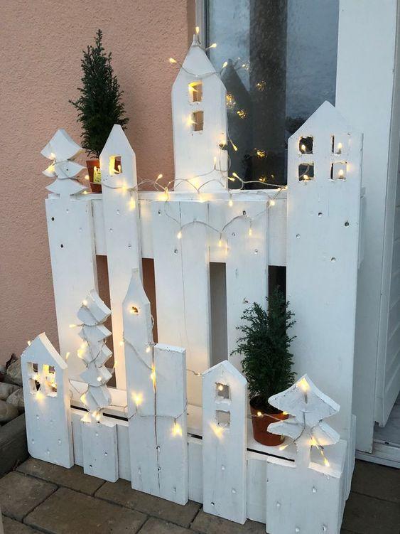 Διακοσμητικός χριστουγεννιάτικος φράκτης