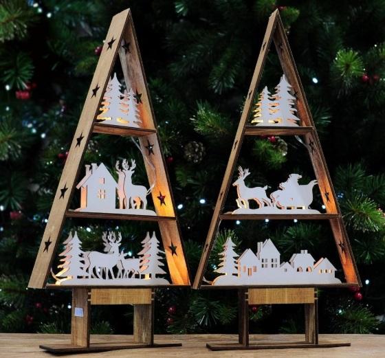 Χριστουγεννιάτικα δέντρα με μικρογραφίες