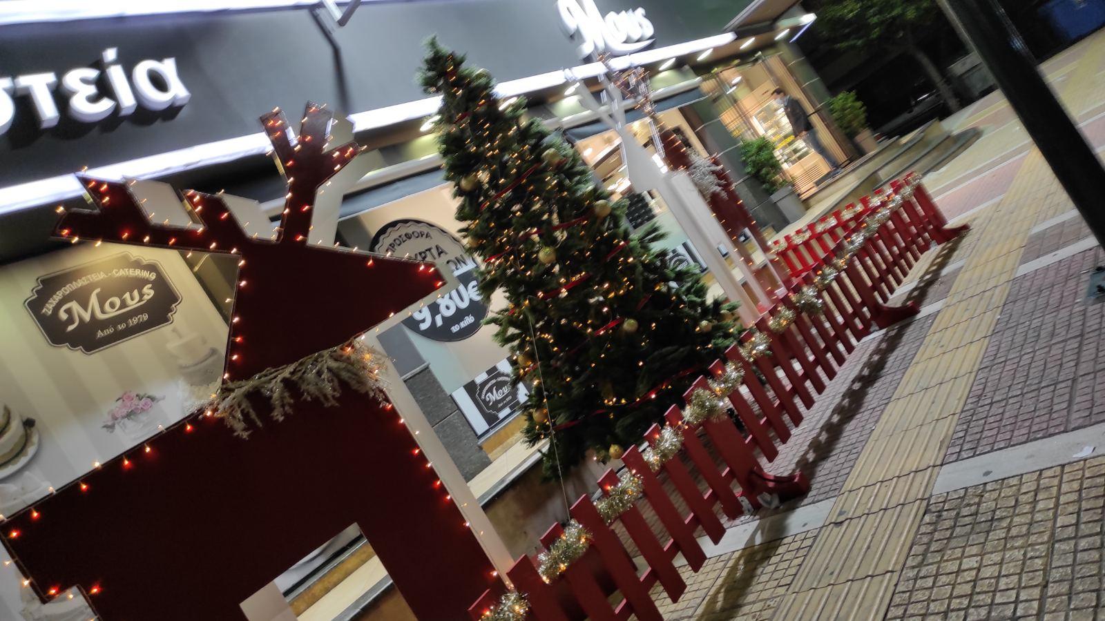 Χριστουγεννιάτικος στολισμός 2020 ζαχαροπλαστείων MOUS