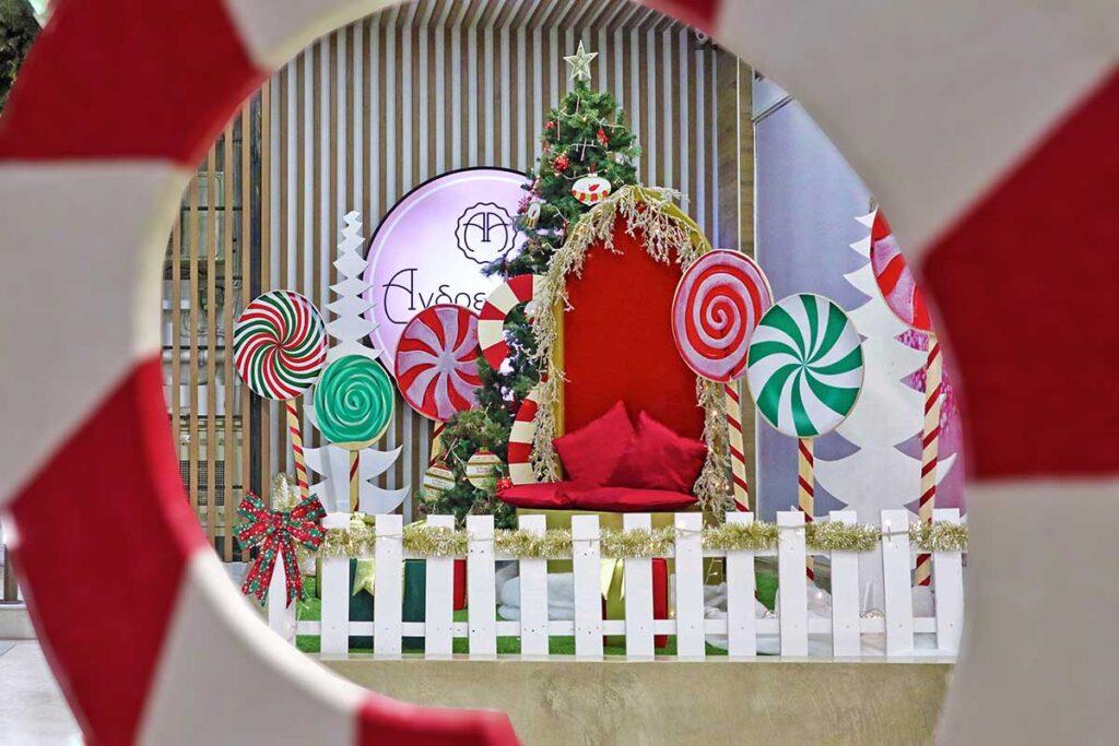 Χριστουγεννιάτικος στολισμός 2020 Ζαχαροπλαστεία ΑΝΔΡΕΑΔΑΚΗ, Περιστέρι