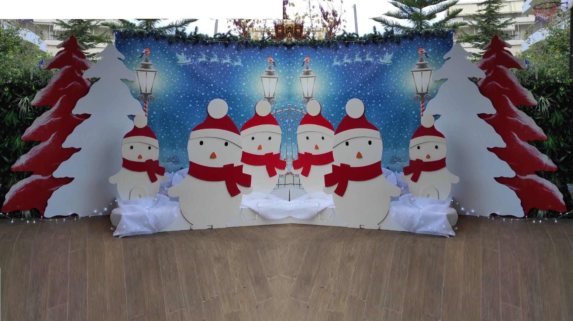 Χριστουγεννιάτικος στολισμός ΦΟΥΡΝΟΣ ΒΡΙΛΗΣΣΙΩΝ 2020