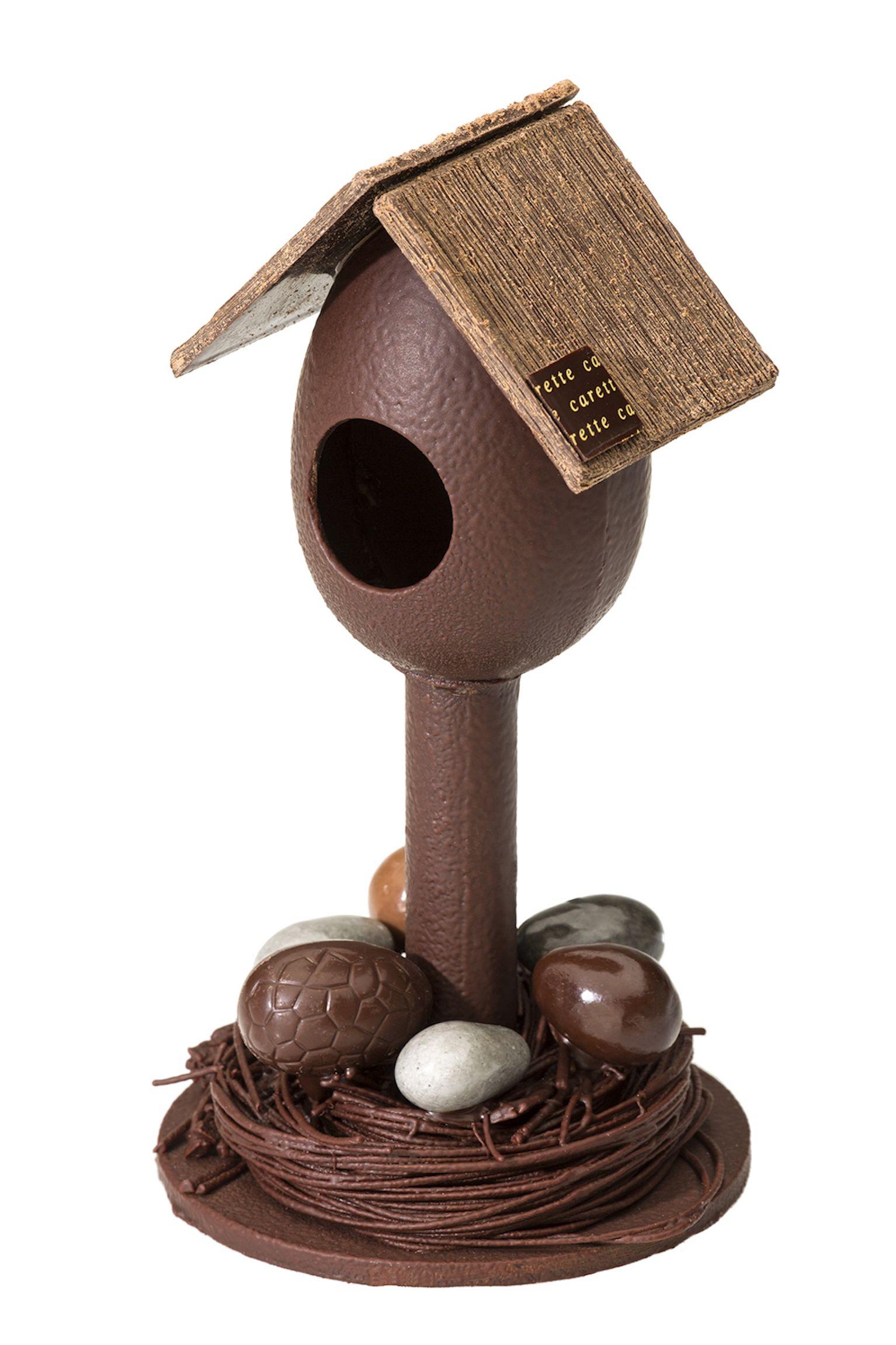 Μεγάλο ξύλινο αβγό-σπιτάκι 3