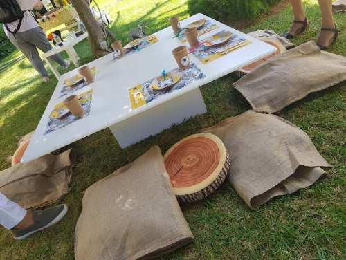 Ξύλινα παιδικά επιπλάκια φαγητού για πάρτυ
