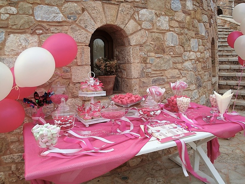Candy Bar στην εκκλησία ή στο πάρτυ ROMANTIC PINK