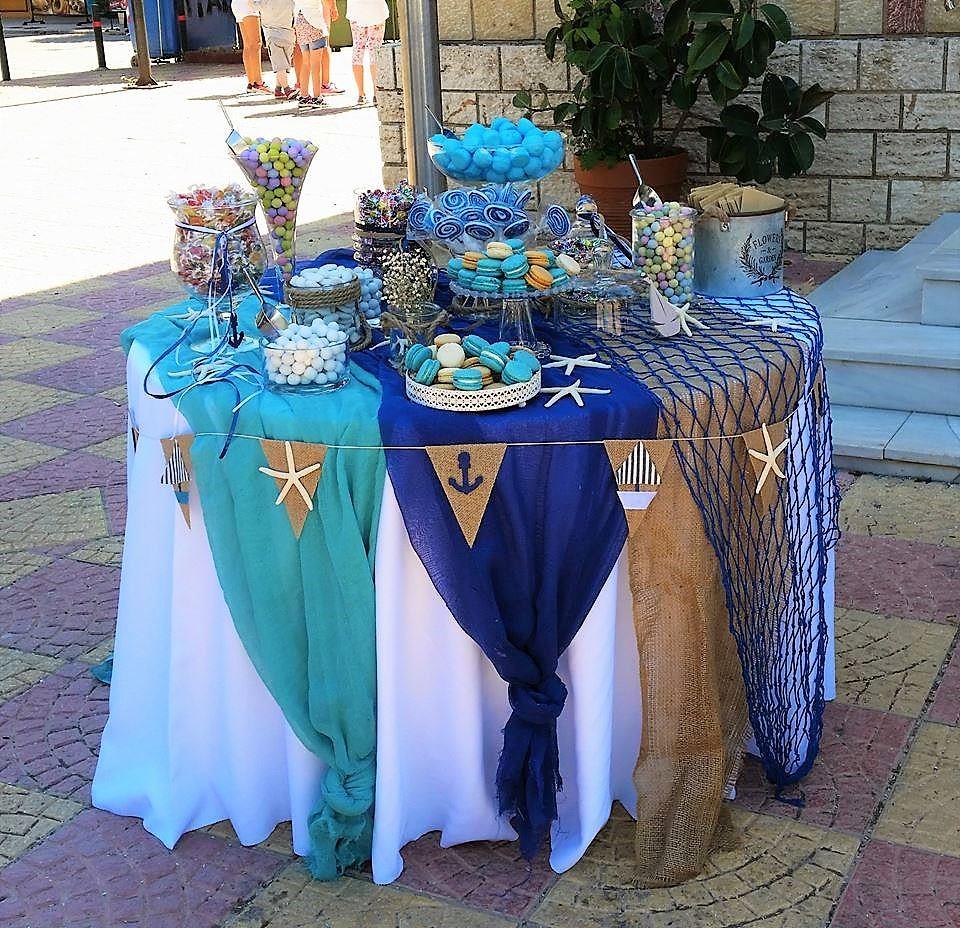 Candy bar στην εκκλησία ή στο πάρτυ ΘΑΛΑΣΣΑ