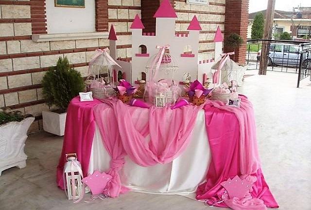 Candy bar στην εκκλησία ή στο πάρτυ PINK CASTLE
