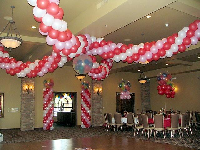 Γιρλάντα οροφής από μπαλόνια