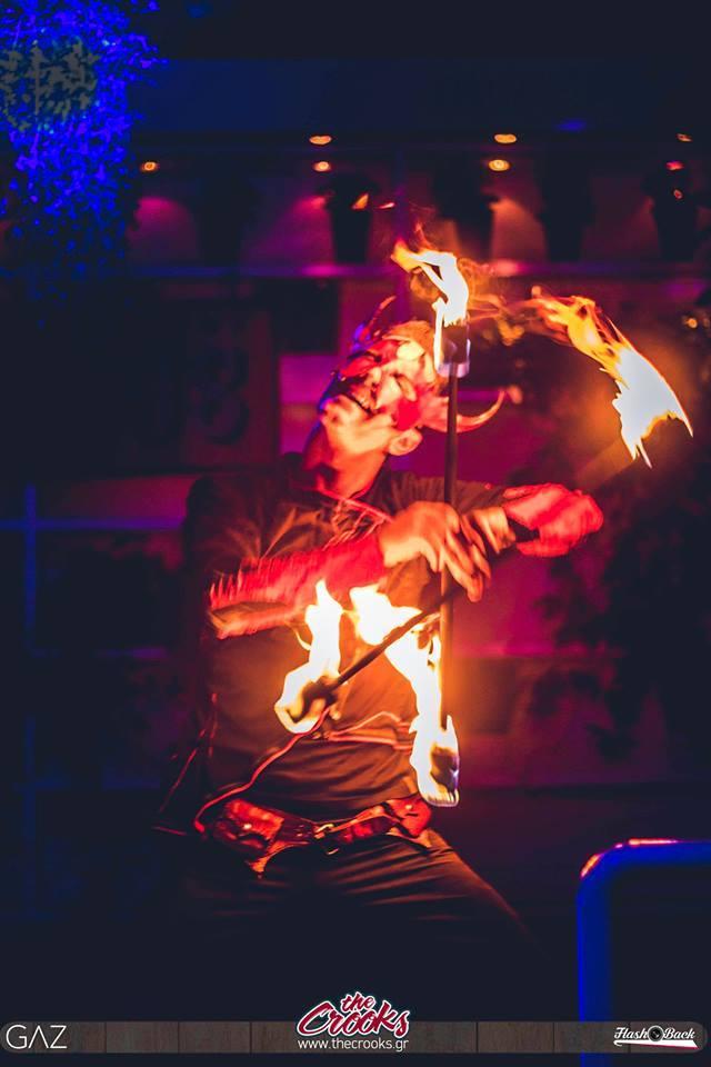 Fire dance show