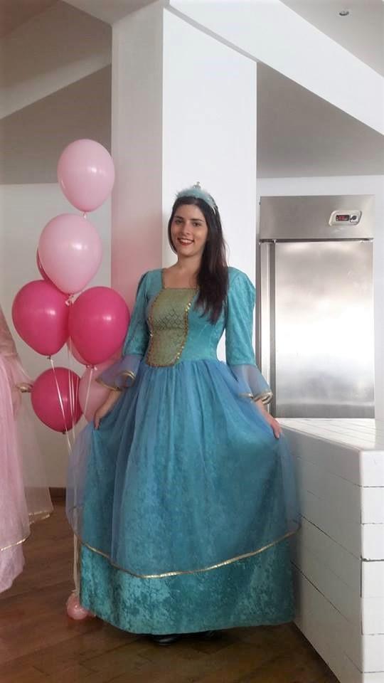 ΝΕΡΑΙΔΑ ΓΑΛΑΖΙΑ στολή ανιματέρ για παιδικό πάρτυ