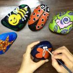 Εργαστήριο : Ζωγραφική σε πέτρα 4