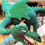 ΕΙΔΙΚΗ ΚΑΤΑΣΚΕΥΗ από μπαλόνια Πράσινος δράκος 1